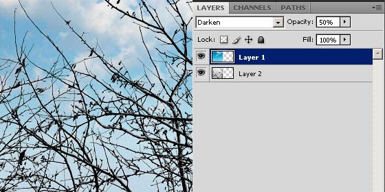 как добавить небо на фото