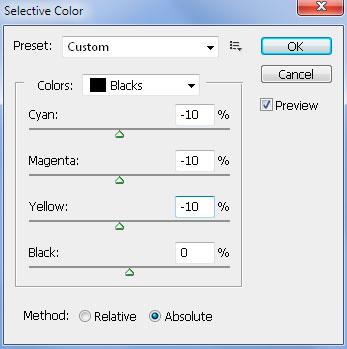 Инструмент фотошопа selective color
