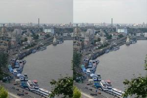 Исходное фото (слева) и более контрастное после применения кривых (справа)