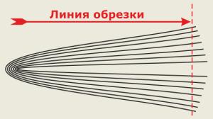 При соединении скрепкой внутренние страницы подрезаются сильнее