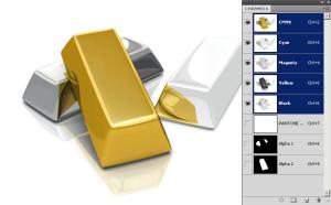 Серебро и золото одной краской