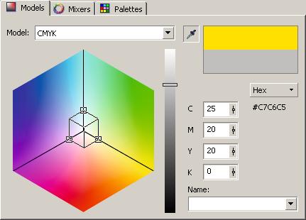 Цветовое пространство CMYK в виде трехмерной системы координат