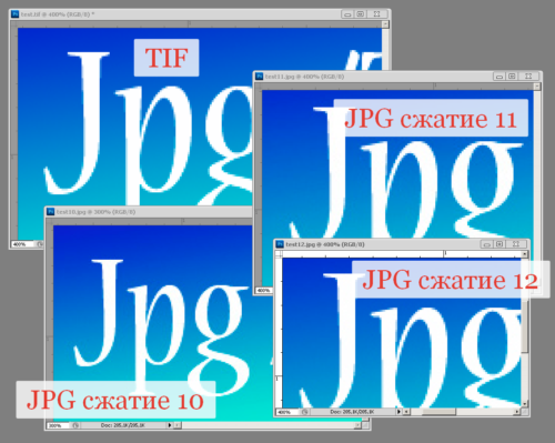 Пример сжатия jpg