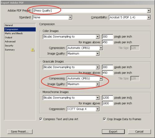 Экспорт в PDF из InDesign